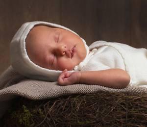 Bilde av Newborn lue i ull hvit