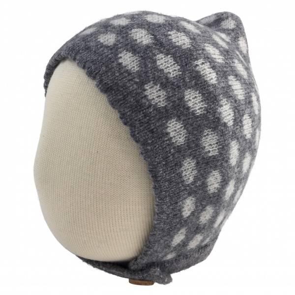 Dotted ull-lue grå